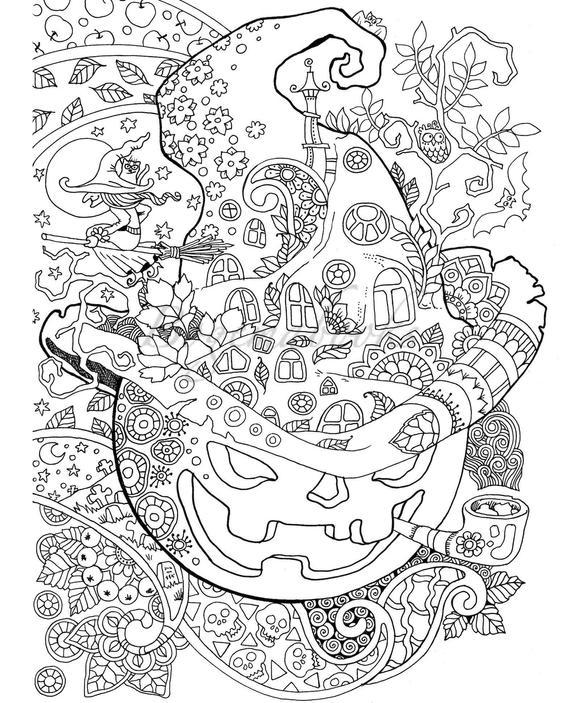 Halloween Adult Coloring Pages Picture - Whitesbelfast