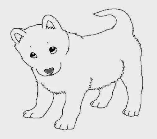 Dogs coloring pages - Puppies! | 447x506