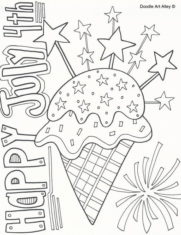 4th Of July Coloring Pages Collection Whitesbelfast