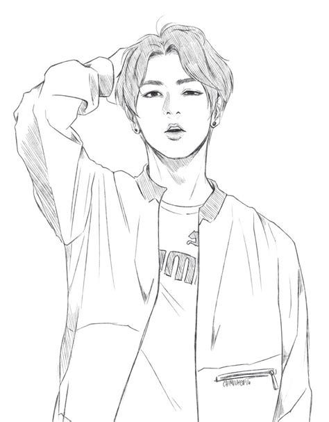 Bts Coloring Pages Picture Whitesbelfast