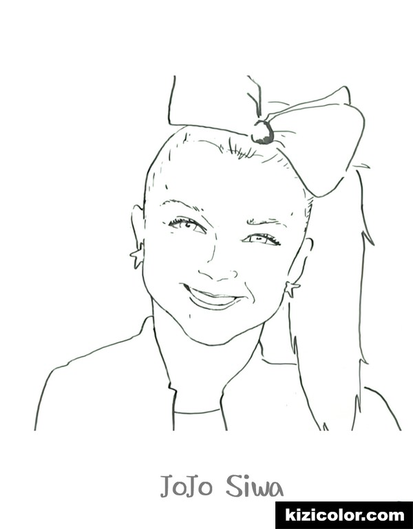 - Jojo Siwa Coloring Pages Pictures - Whitesbelfast