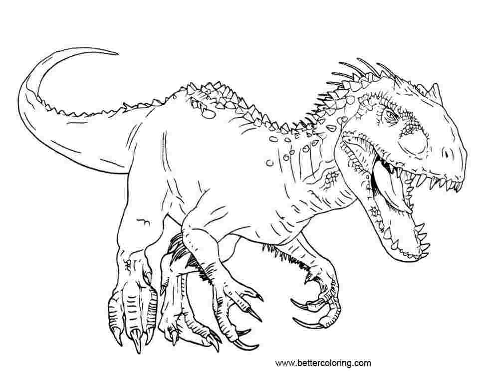 T Rex Coloring Pages Picture - Whitesbelfast