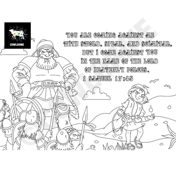 David And Goliath Coloring Pages Ideas Whitesbelfast Com