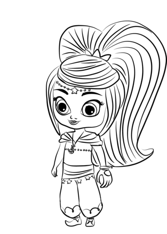 Shimmer And Shine Coloring Pages Idea - Whitesbelfast | 480x343