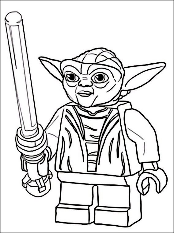 Yoda Coloring Pages Picture Whitesbelfast