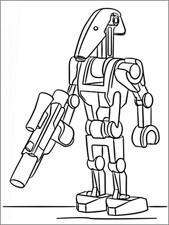 Lego General Grievous Coloring Page - Free Coloring Pages Online | 758x568