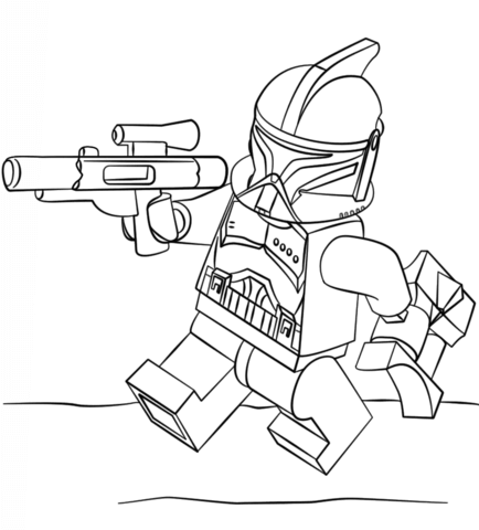 Free Star Wars Captain Rex Coloring Pages, Download Free Clip Art ... | 480x434