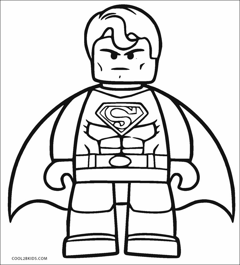 Lego Superman Coloring Pages Gallery Whitesbelfast