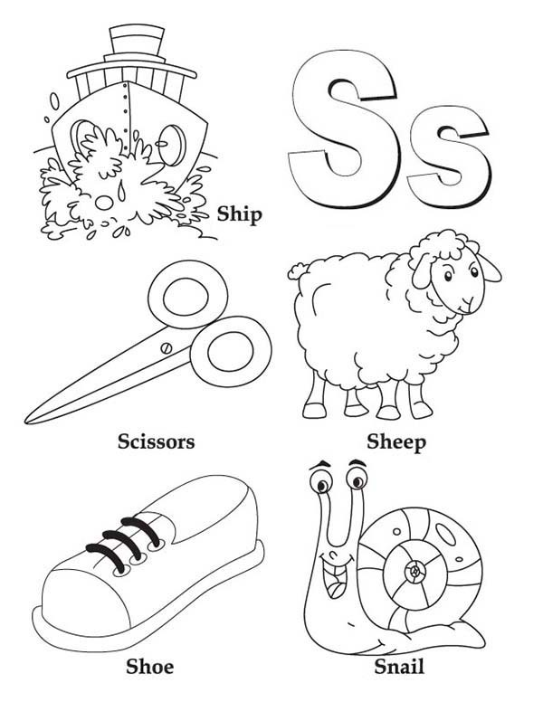 Letter S Coloring Pages Pictures Whitesbelfast