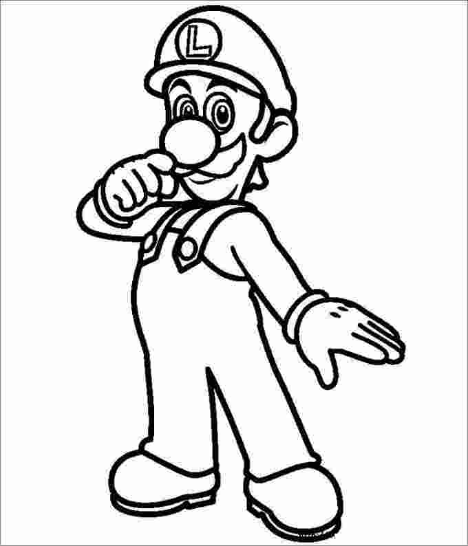 Luigi Coloring Pages Ideas And Templates Whitesbelfast Com
