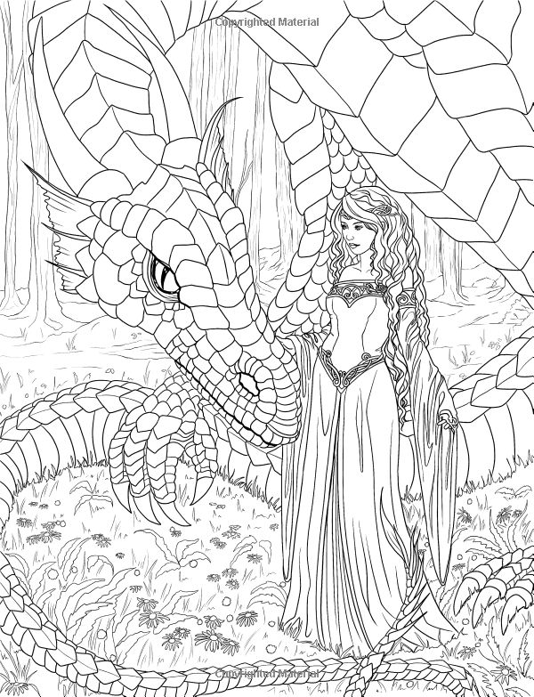 Fantasy Adult Coloring Pages - Coloring Home | 783x600