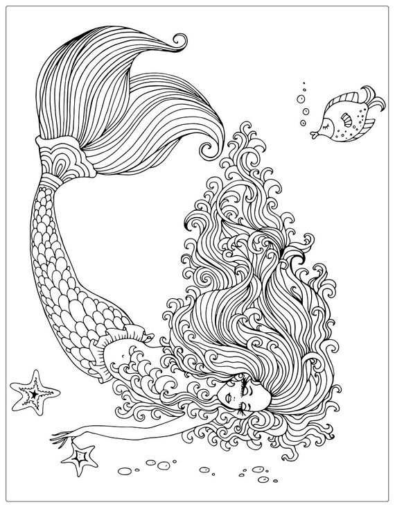 Mermaids Coloring Pages Pictures - Whitesbelfast