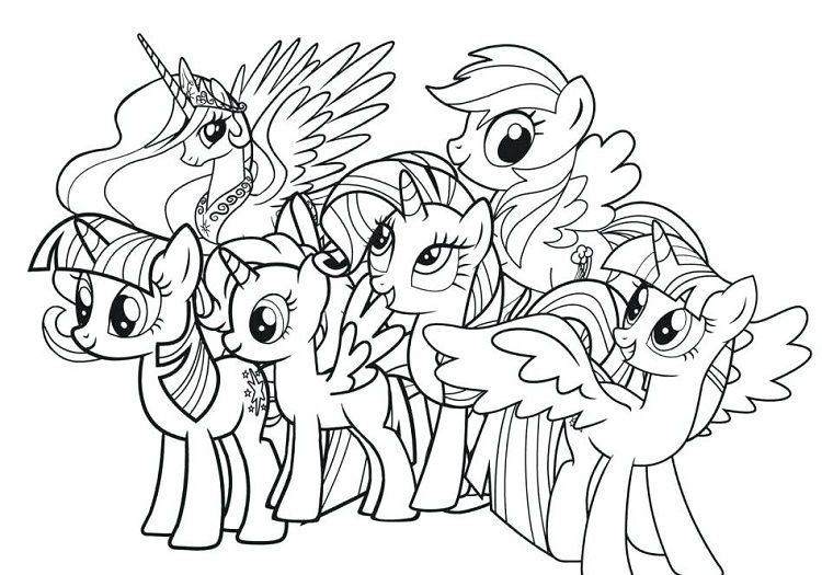 Little Pony Coloring Pages Pictures - Whitesbelfast
