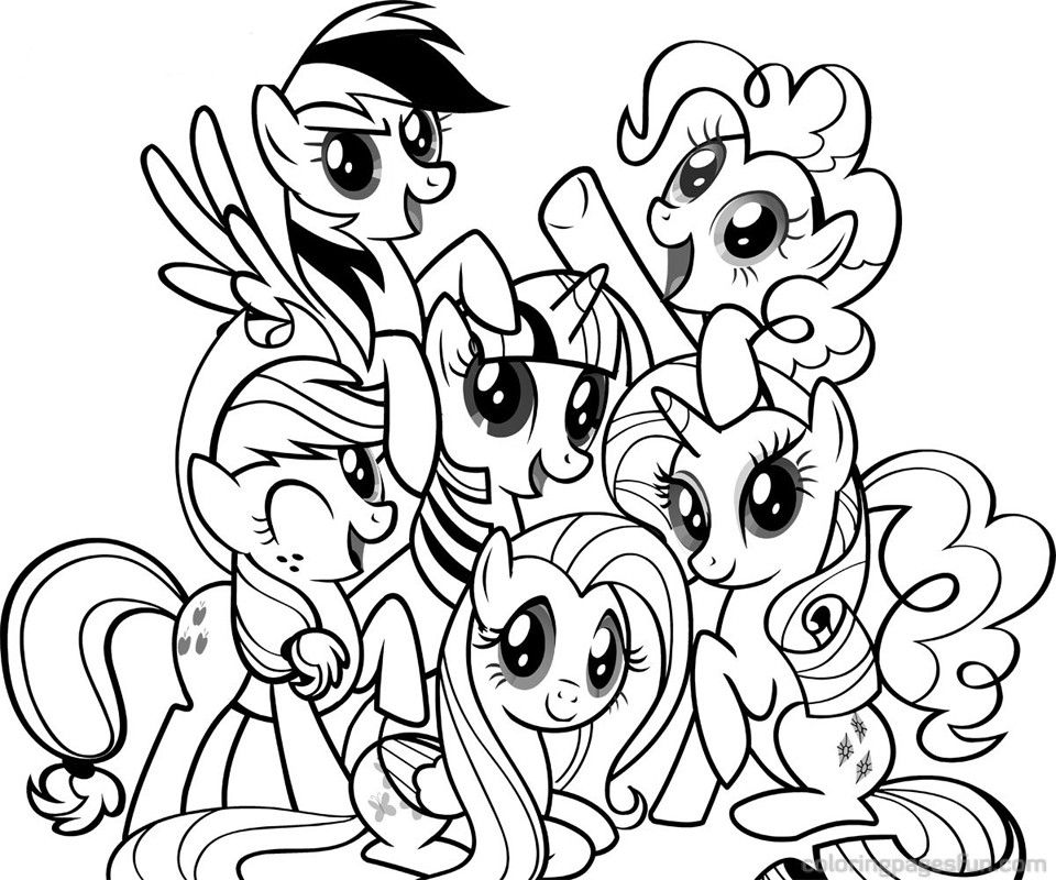 Little Pony Coloring Pages Pictures Whitesbelfast