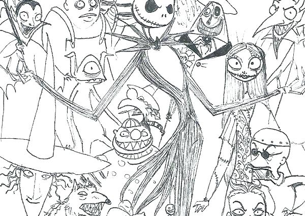 - Nightmare Before Christmas Coloring Pages Idea - Whitesbelfast