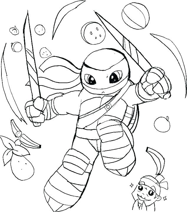 Ninja Turtle Coloring Pages Picture Whitesbelfast
