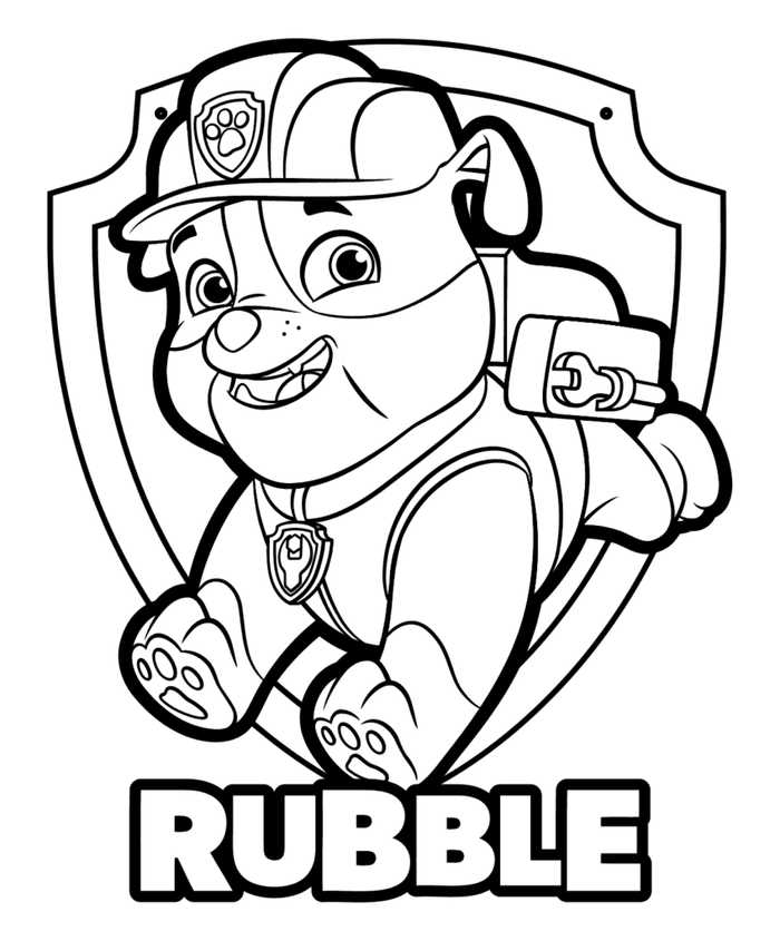 Coloring Pages Paw Patrol Collection - Whitesbelfast
