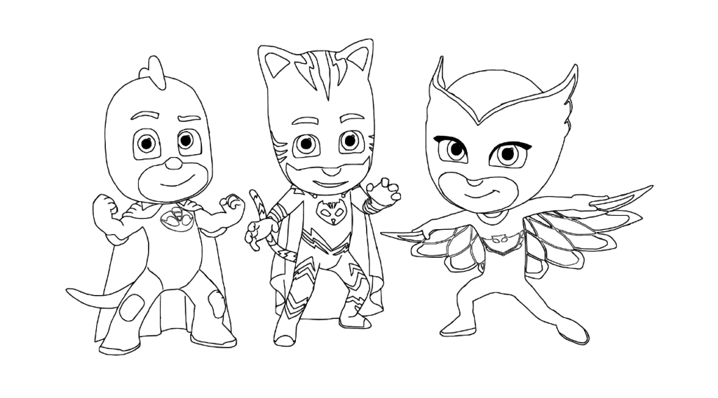 Pj Mask Coloring Pages Pictures - Whitesbelfast