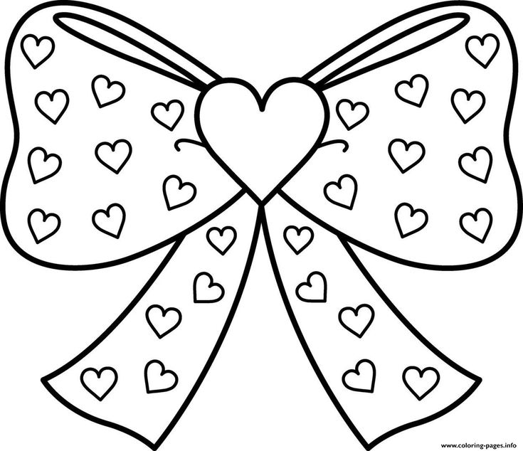 - Bow Coloring Pages Idea - Whitesbelfast