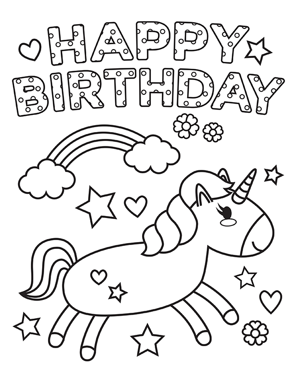 Happy Birthday Coloring Pages Gallery - Whitesbelfast