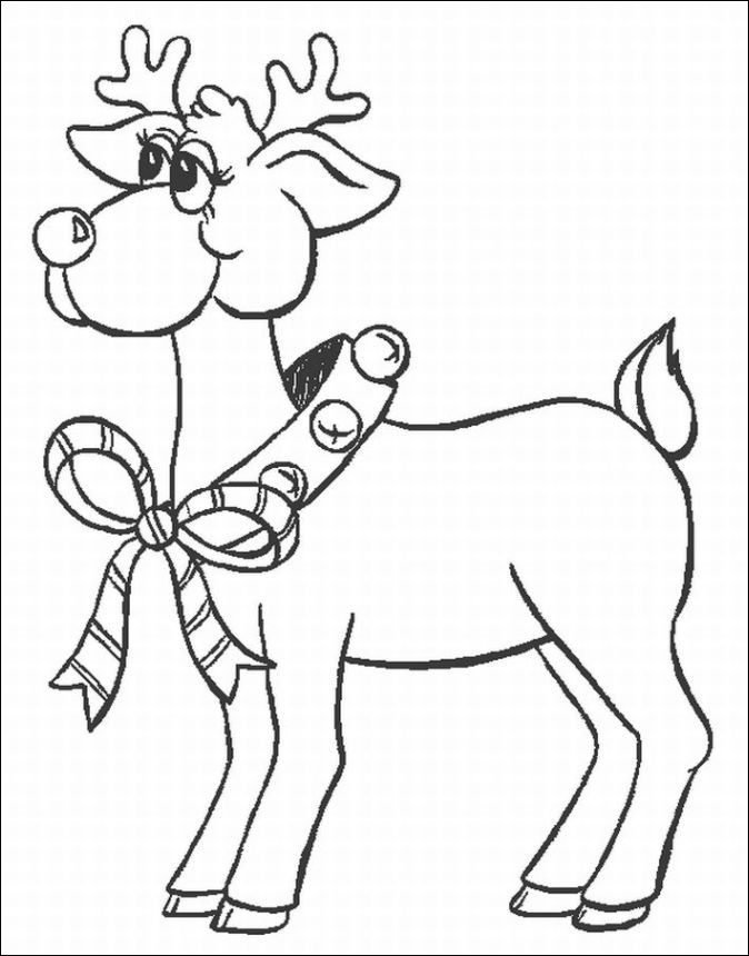 Santa And Reindeer Coloring Pages - GetColoringPages.com   860x674
