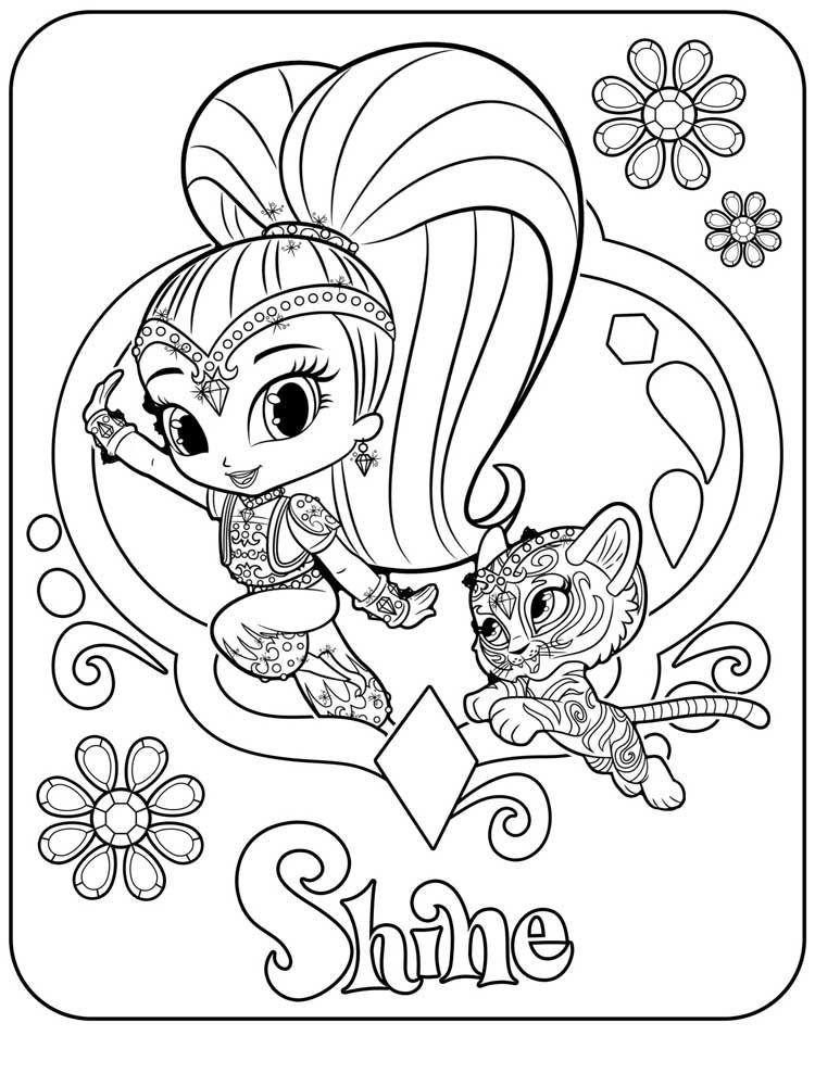 Shimmer And Shine Coloring Pages Idea