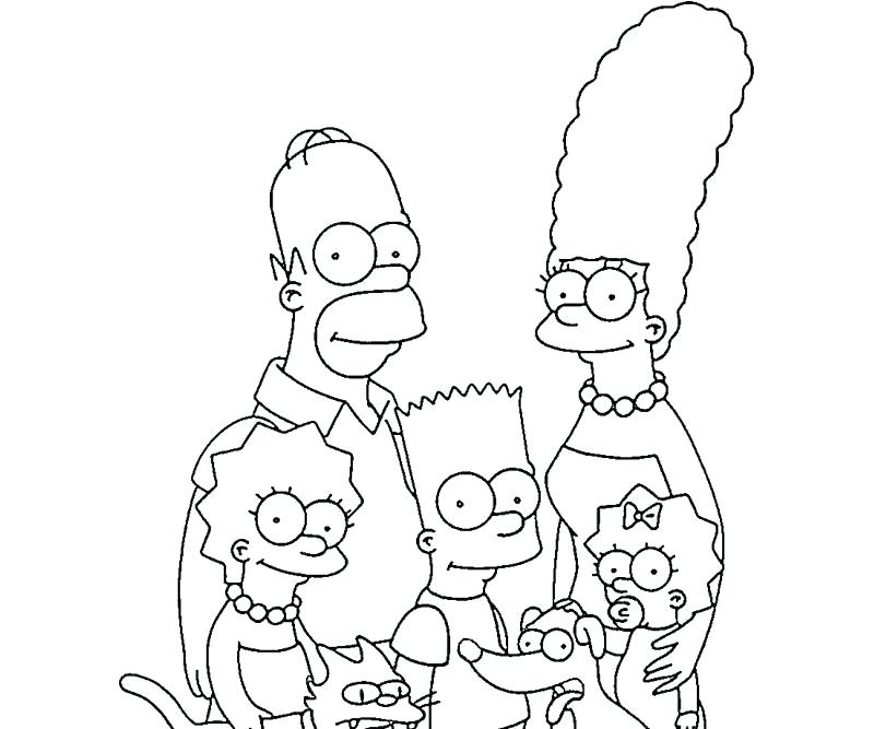 Simpsons Coloring Pages Collection Whitesbelfast Com