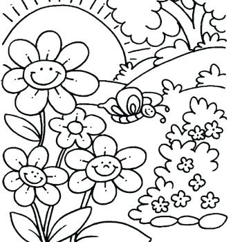 Spring Coloring Pages Printable Idea Whitesbelfast
