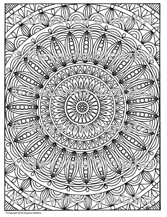 Stress Relief Coloring Pages Pictures - Whitesbelfast