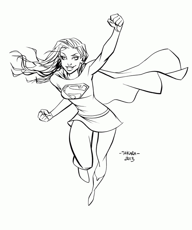 Supergirl Coloring Pages Collection Whitesbelfast