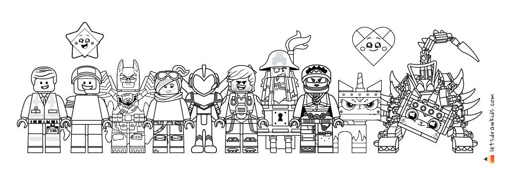 Lego Movie Coloring Pages Collection Whitesbelfast