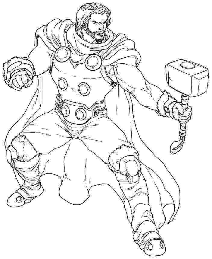 Thor Coloring Pages Gallery Whitesbelfast