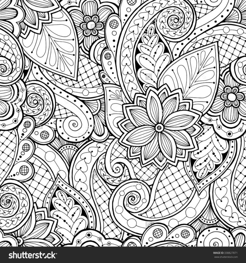 Adult Coloring Pages Patterns Flowers Collection - Whitesbelfast