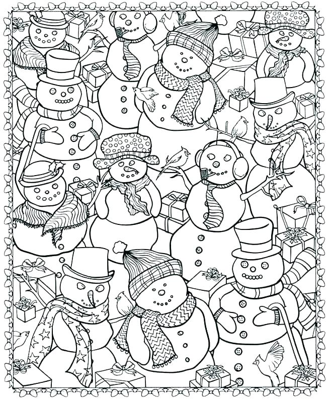 - Winter Coloring Pages Pictures - Whitesbelfast