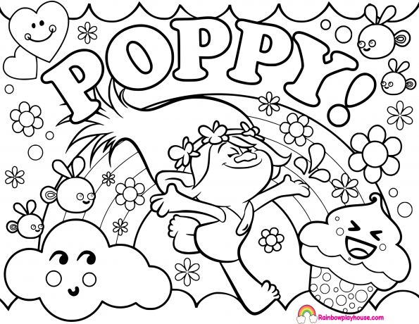 - Trolls Coloring Pages Collection - Whitesbelfast