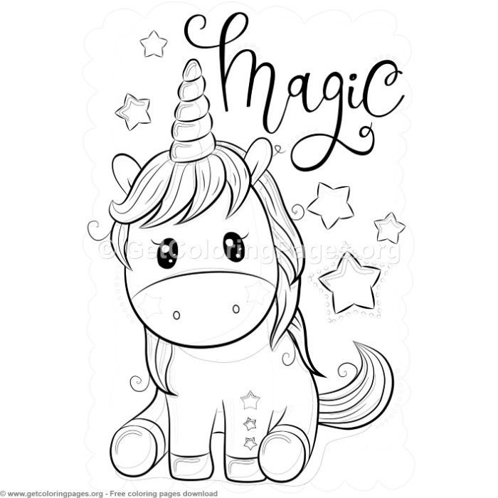Unicorn Coloring Pages Picture - Whitesbelfast