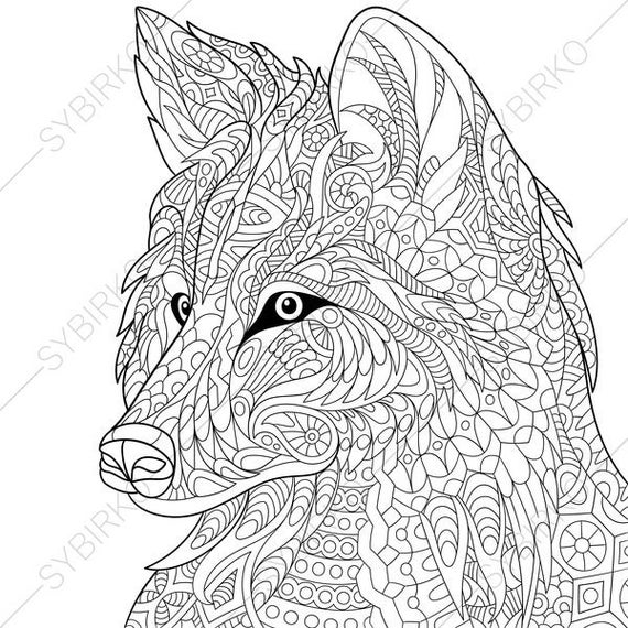 Wolf Coloring Pages Picture - Whitesbelfast