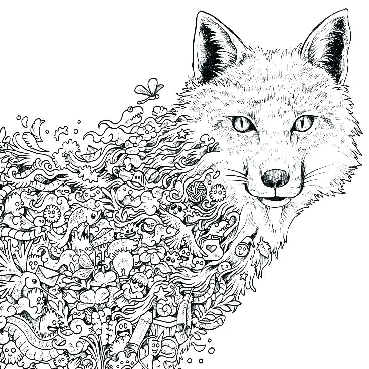 Wolf Coloring Pages For Adults Pictures - Whitesbelfast.com