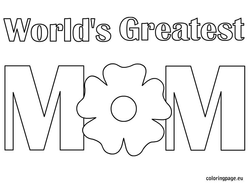Mom Coloring Pages Collection - Whitesbelfast