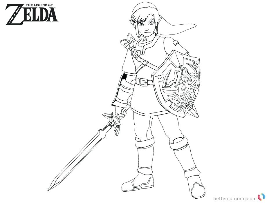 Zelda Coloring Pages Picture Whitesbelfast