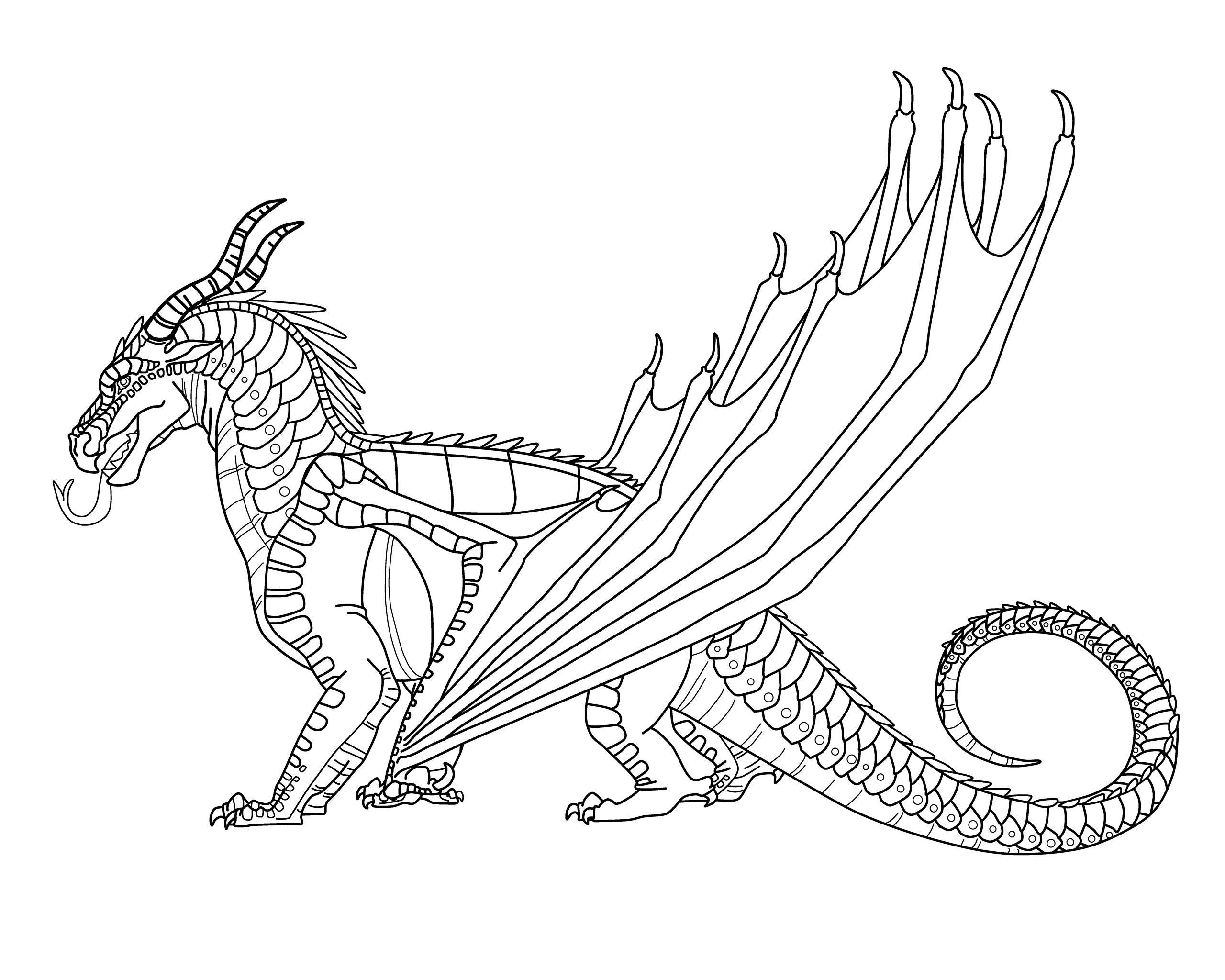 Wings Of Fire Coloring Pages Pictures - Whitesbelfast
